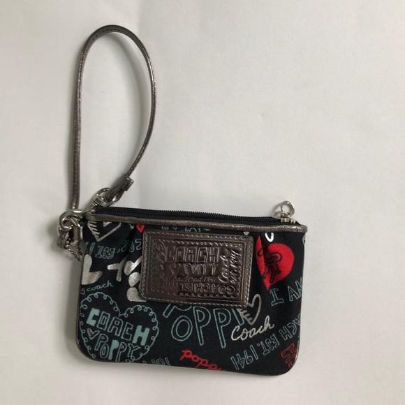 Coach Handbags - Coach Poppy black wristlet